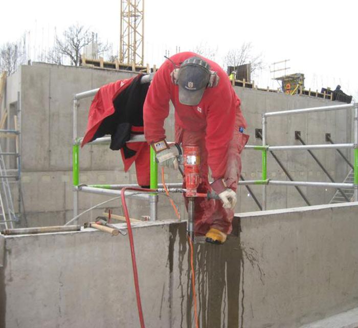 betongborrning