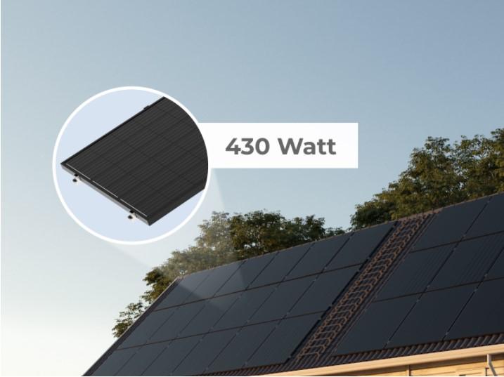 Solpanel med 430 Watt.