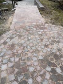 Efterbild av utförd stensättning och stenläggning i Huddinge.