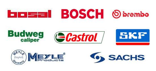 Vi använder oss uteslutande av kända, kvalitativa varumärken