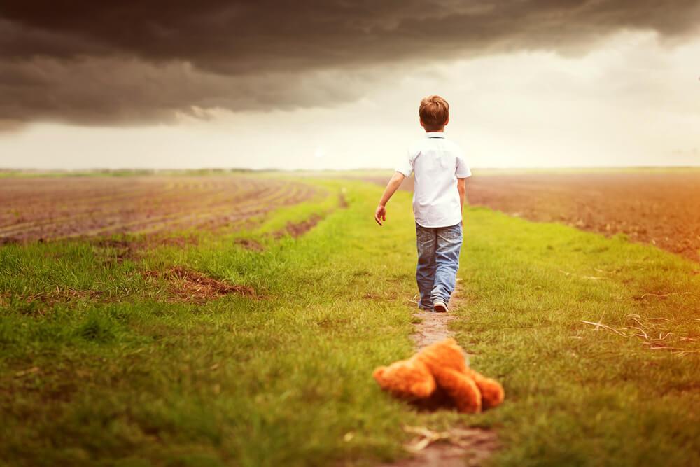 barn gå sin väg