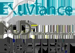 Våra leverantörer: Exuviance, MUD (Make-up designory och BIOEFFECT