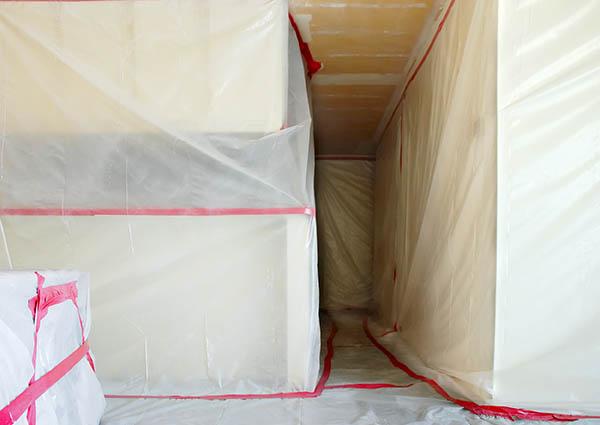 inplastad asbestsanering huddinge