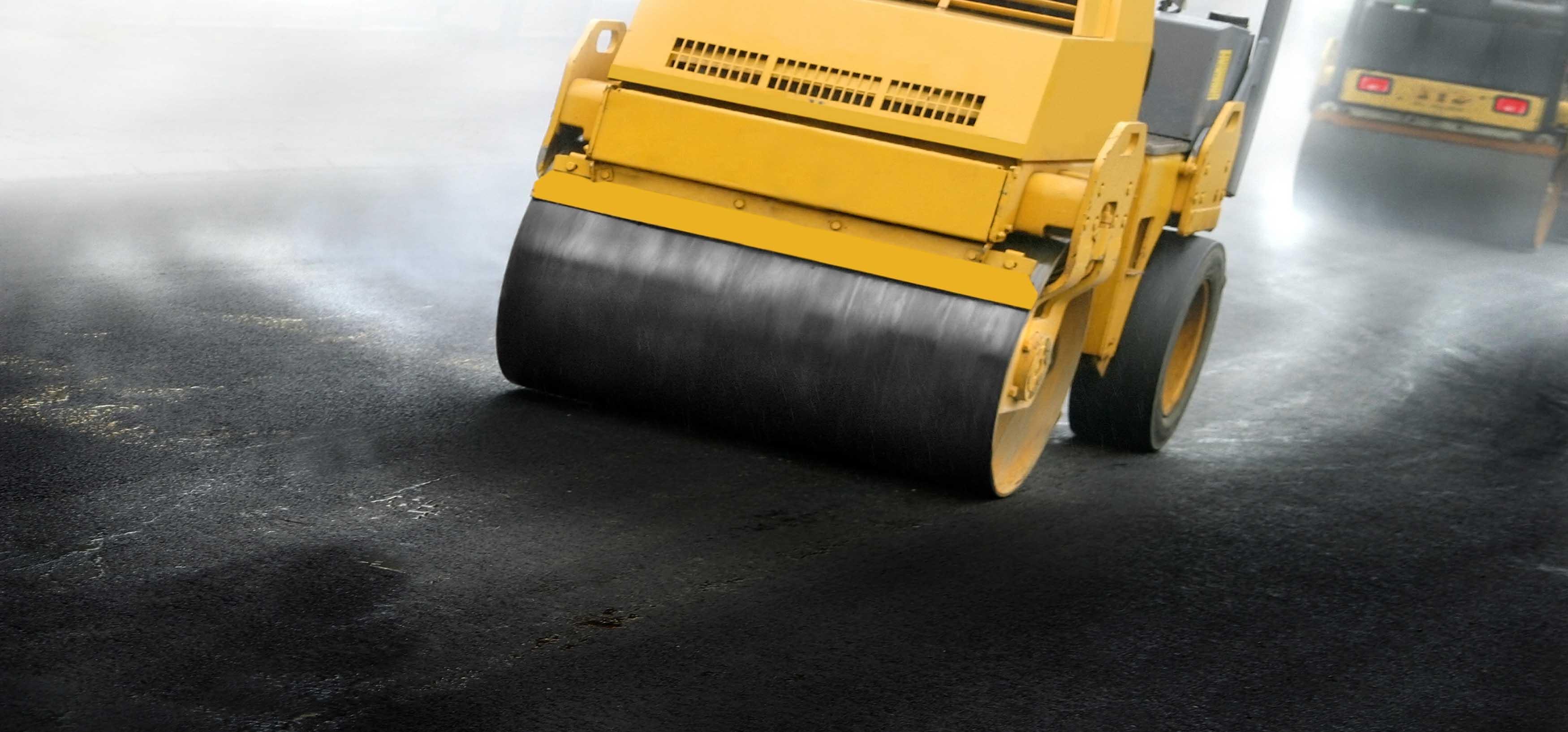 Vi lägger asfalt i Stockholm