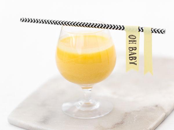 Alkoholfri drink med mango