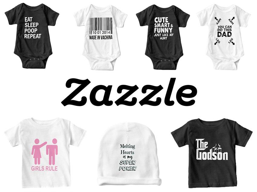 Babykläder med roliga tryck