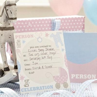 Billigt inbjudningskort till babyshower