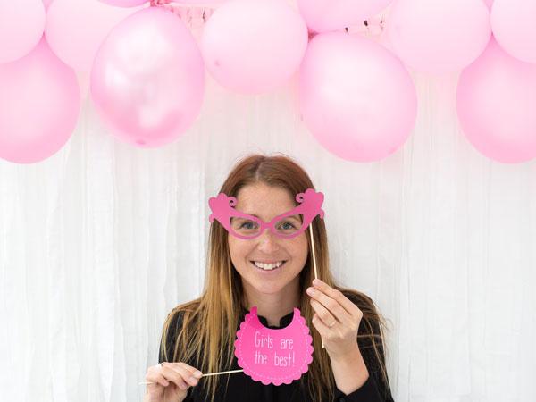 Använd ballonger till fotobakgrund