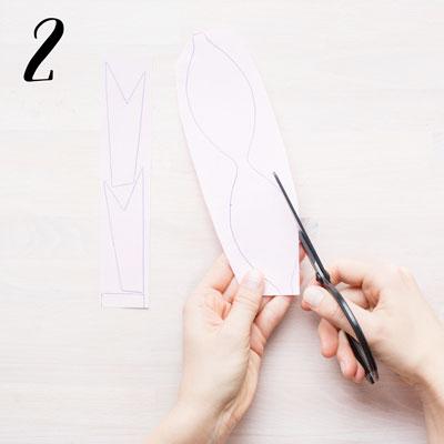 Pappersrosett - Steg 2