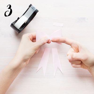 Pappersrosett - Steg 3