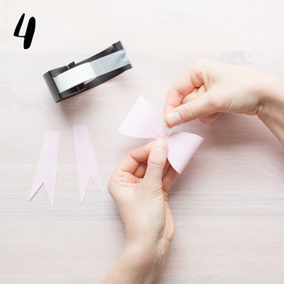 Pappersrosett - Steg 4