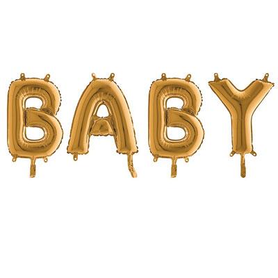 Bokstavsballonger Baby