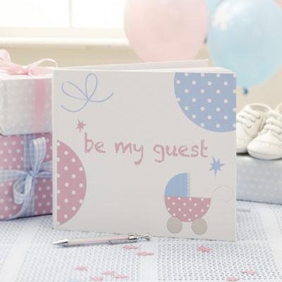 Gästbok till baby shower