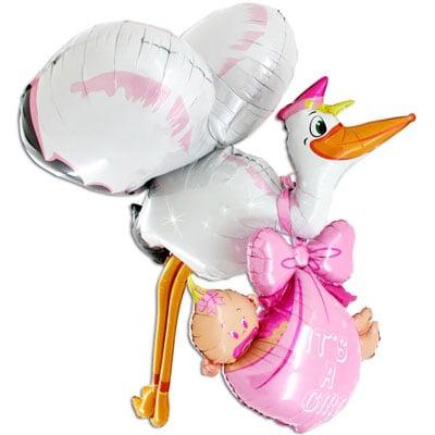 Stor heliumballong till baby shower