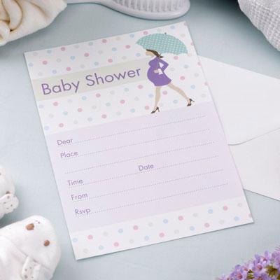 Inbjudan till babyshower