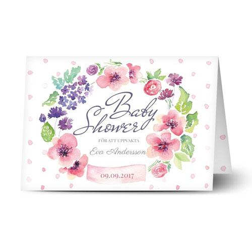Fint inbjudningskort med blommor