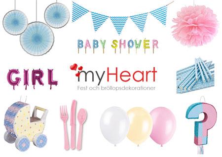 Köp dekorationer till baby shower