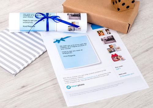 Presentkort på fotobok i present