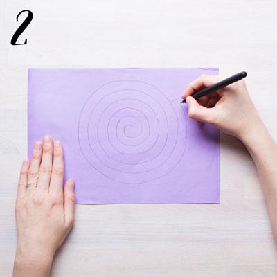 Spiralgirlang - Steg 2