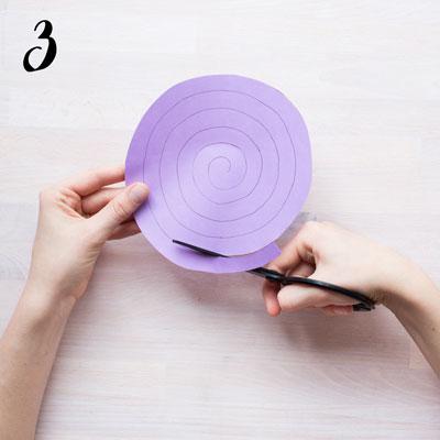Spiralgirlang - Steg 3