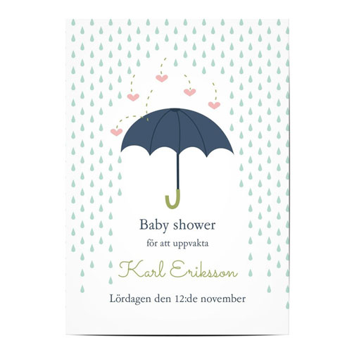 Inbjudningskort till babyshower