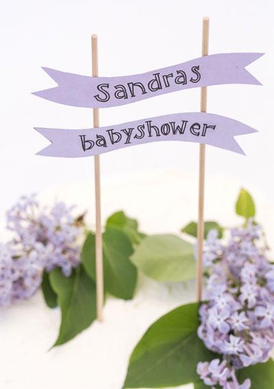 Tårtdekoration till babyshower