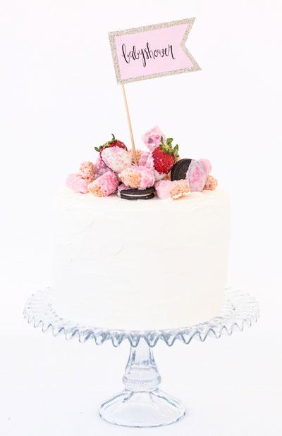 Caketopper för att dekorera tårtan