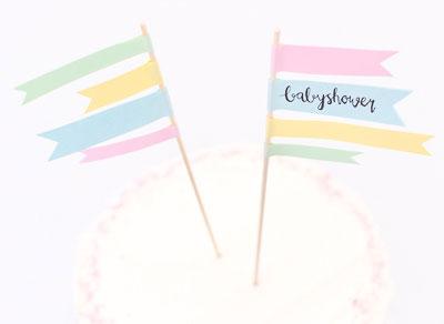 Fina flaggor till tårtan