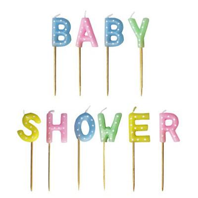 Tårtljus till babyshower