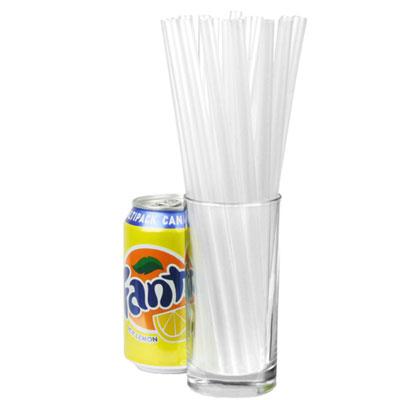 Transparenta sugrör för smoothie