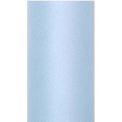 Ljusblå tyll på rulle
