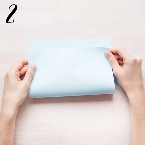 Girlang av veckat papper - steg 2