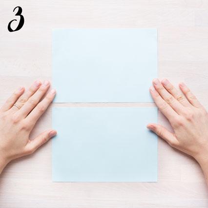 Girlang av veckat papper - steg 3