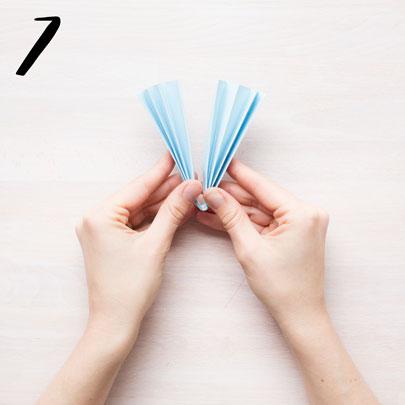 Girlang av veckat papper - steg 7