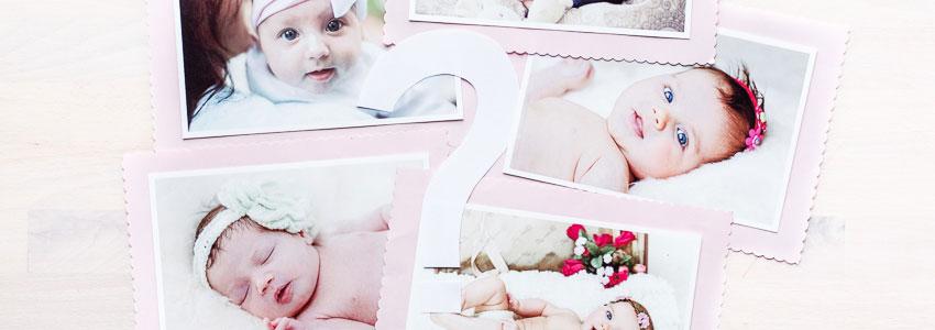 Gissa vem som är bebisen på kortet