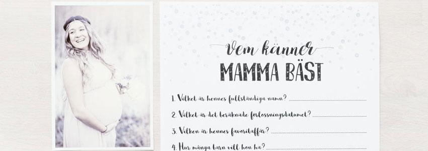 Frågesport om mamman