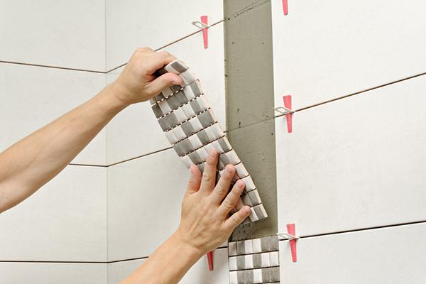 ny mosaik vid badrumsrenovering i dalarna