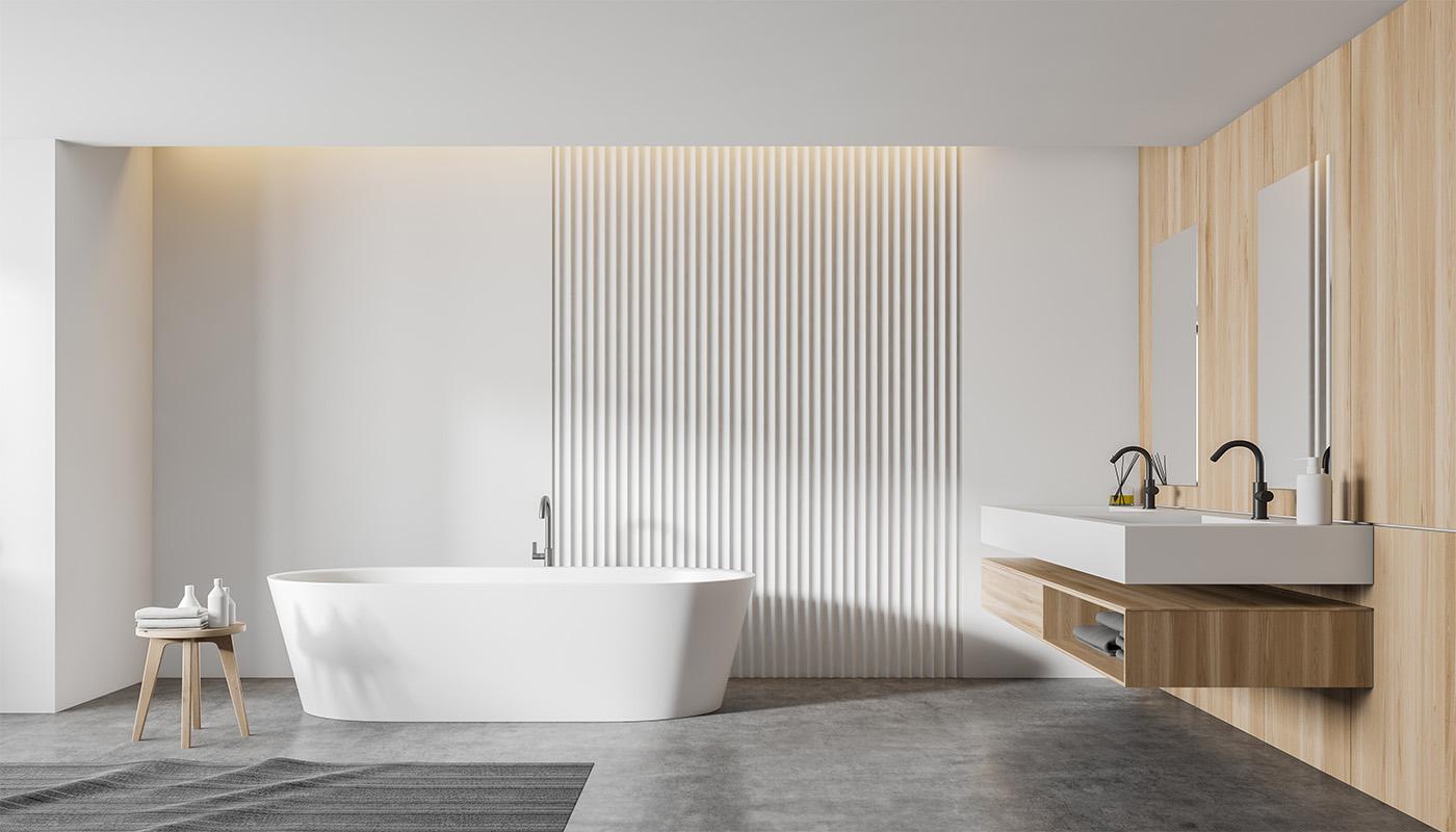 Ett renoverat badrum