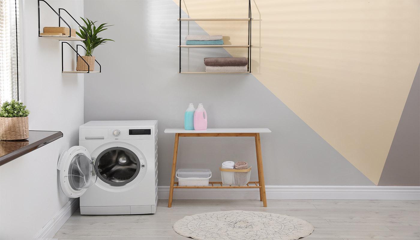Renovering av tvättstuga kan bli väldigt fint, till slut.