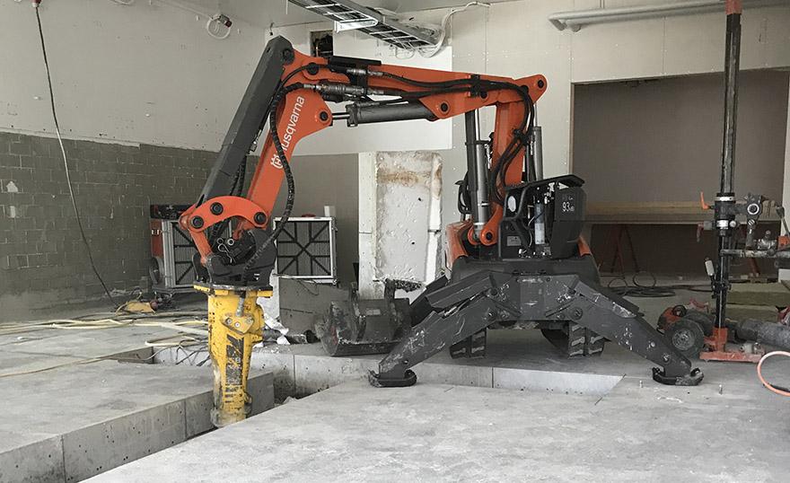 Betonghåltagning Västra Götaland robot