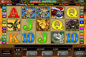 Mega Moolah Progressive Jackpot Slot