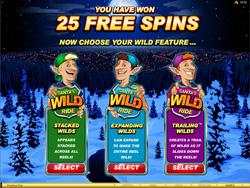 Santa's Wild Ride Free Spins Bonus