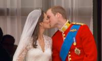 William and Kate's wedding kiss