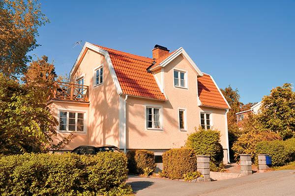 svensk villa med bergvärme