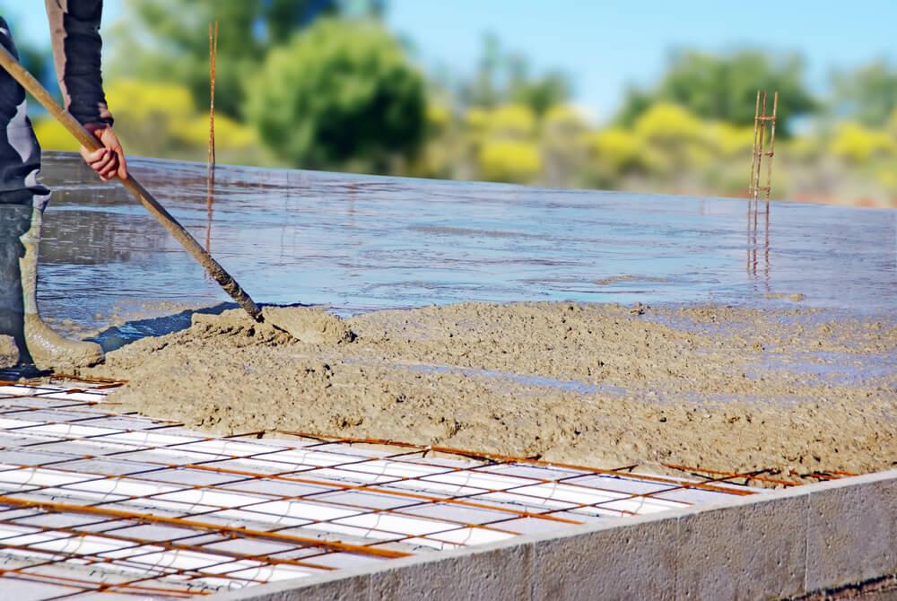 gjuta betong