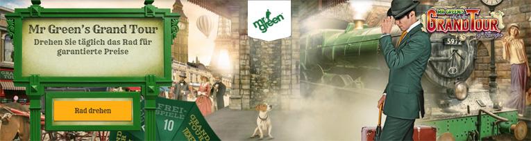 Mr Green Grand Tour Aktionen