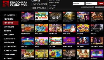 Dragonara Casino Spel och Bonus