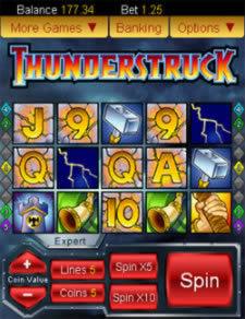 Thunderstruck Slots i Mobilen