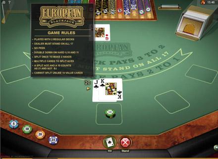 European Gold Blackjack