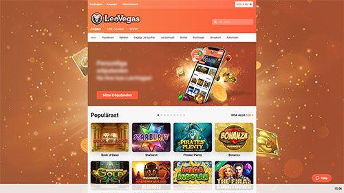 Leo Vegas hemsida